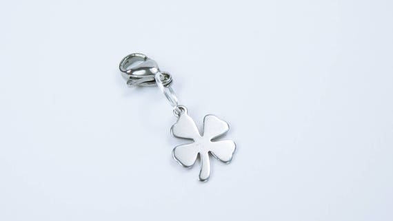 Clover clover Good Luck clover Happy New Year New Year's Eve charms Lucky Charms stainless steel bag Pendant
