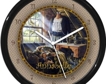 """Quilting Room 10"""" Personalized Wall Clock"""