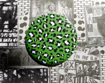 Pocket mirror 'Green Leopard'