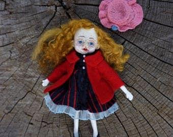 OOAK art doll Abby, art doll, OOAK doll, polymer doll
