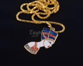 Beautiful Brass nefertiti Necklace