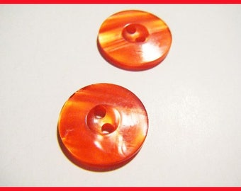 Red set of 2 vintage buttons