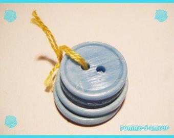 Set of 4 aqua blue buttons which I no longer use