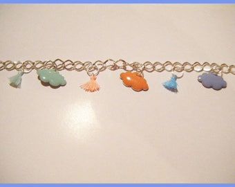 Cloud and Pompom pastel♥ ♥bracelet