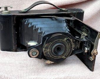 1920's Vintage Eastman Kodak USA Antique Camera No 2 Model B Hawk-eye Hawkeye Folding Bellows Kodex photography