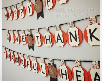 Fall Autumn Thanksgiving small paper banner home decoration dinner party decor