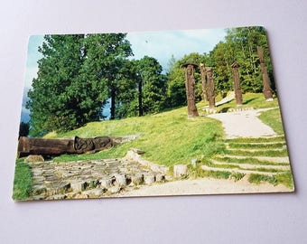 Ablinga Lithuania Vintage Postcard 1981 Wooden sculptures