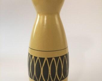 Vintage retro handpainted Strehla vase from 1960, GDR