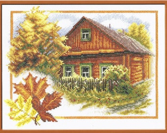 Cross stitch kit Rural Autumn