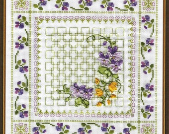 Counted Cross Stitch Kit Vibrant Flowers C-0575