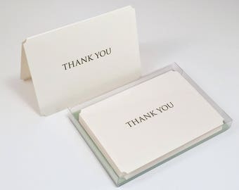 Trajan Letterpress Thank You Cards - Set of 6