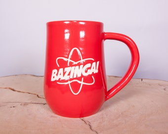 Bazinga Big Bang Theory Handmade Pottery Coffee Mug