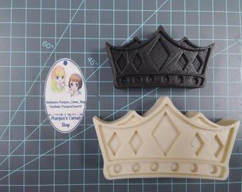 Crown Plastic Mold or Silicone Mold, king mold, bath bomb mold, soap mold, queen mold, mardi gras mold, royal mold, princess mold, pince