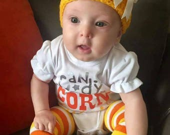 Hand made  candy corn hat