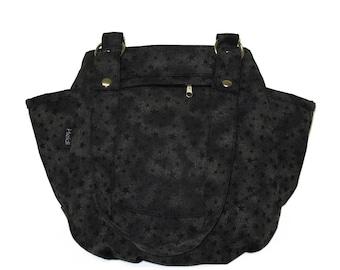 Black stars canvas diaper bag stars print stroller bag backpack trendy unisex bag baby nappy bag mommy backpack