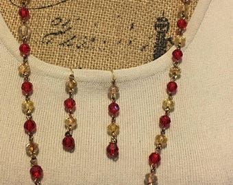 Red and Yellow Bead Set