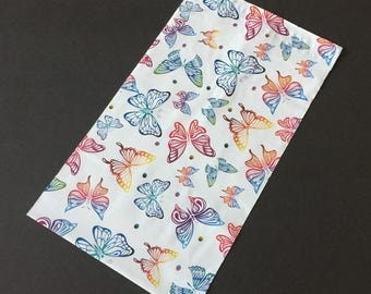 50 NEW 6x9 BUTTERFLIES Designer Poly Mailers Self Sealing Envelopes Shipping Bags