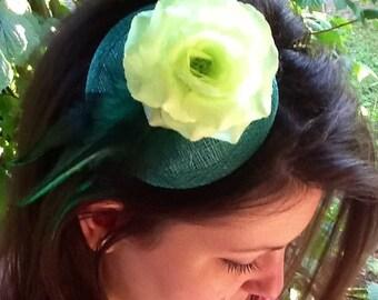 Bibi sisal, feathers, flowers, color choice