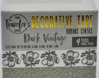 Dark Vintage Decorative Washi Tape