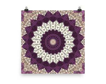 Mandala Wall Art, Earthy Tones Abstract Home Decor, Mandala Art Prints