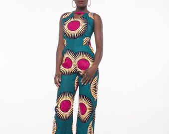New In: African Print Lina Jumpsuit