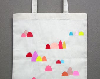 hand painted cotton bag #05 (color mountains #03)