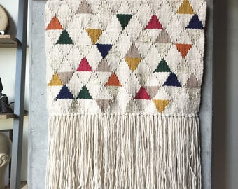 Large Triangle Woven Wall Hanging