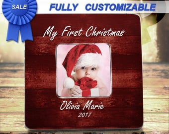 My First Christmas Personalized Baby First Christmas Frame Baby Christmas Personalized Picture Frame Baby Frame Baby's First Christmas Frame