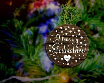 Godmother Ornament Godmother Christmas Gift Godmother Christmas Ornament Custom Godmother Gift From Godchild Custom Christmas Ornament