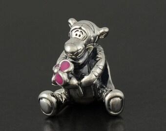 New Authentic Pandora Charm Bead DISNEY Tiger Pink Enamel 792135EN80 pouch