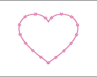 Barbed wire heart digital download, svg, dxf, eps, ai, png, country girl, southern file, instant download, country couple, barb wire, heart