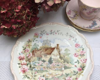 Lovely Collectible Vintage Royal Albert Garden of The Year Series - Summer Plate