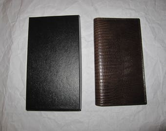 Vintage Christian Dior Check Book/Credit Card Wallet