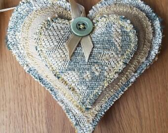 Lavender Heart, Shabby Chic, Chenille, Heart Decoration, Door Hanger, Handmade