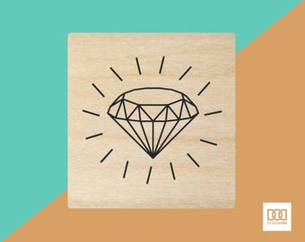 Diamond - 1.5cm Rubber Stamp (DODRS0184)