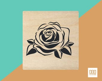Rose Bloom - 1.5cm Rubber Stamp (DODRS0185)