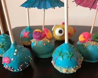 Beach cake pops etsy for Pops fish market