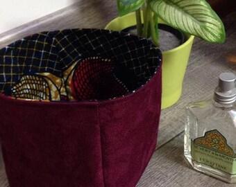 """Small basket / Organizer / storage basket """"Wax Eggplant"""""""