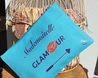 """Miss glamorous"" personalized clutch"