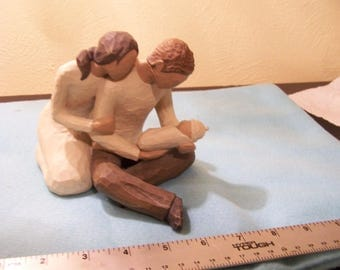 Willow Tree New Life Newborn with Parents Figurines