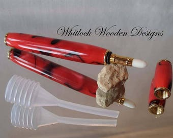 Refillable Red Black Perfume Pen