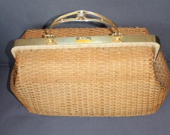 Vintage 30's Wicker bag
