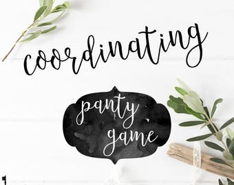 Coordinating Panty Game Insert - Bachelorette Party Panty Game - Hens Party Insert
