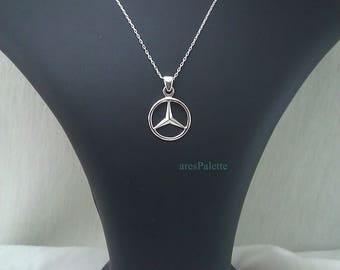 Mercedes-Benz Necklace-Handmade-925 silver