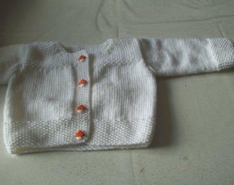 White baby vest - 3 months-