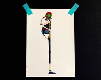 Color print Skater Boy, illustration from the series exceeds its predecessor
