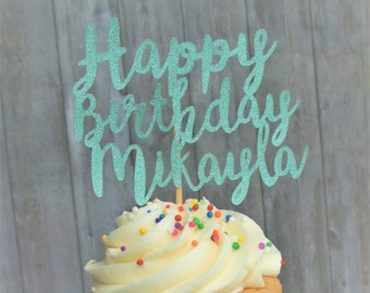 Cupcake Toppers, Customized Cupcake Toppers, Birthday Cupcake Toppers, Name Birthday Toppers. Customized Name Toppers