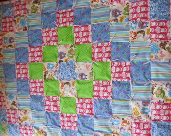 New Handmade Tied Hello Kitty Baby Quilt Blanket