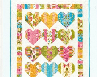 SALE** Heart Strings - Wall Hanging or Lap Quilt Pattern - Black Mountain Needleworks