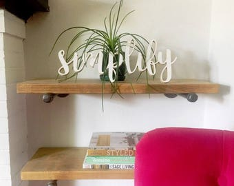 Simplify Wood Sign Cutout / Wall Decor / Office Decor / Housewarming Gift